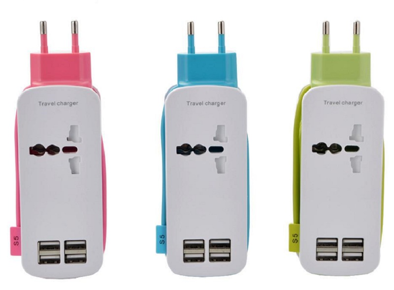 Universal power adapter and USB