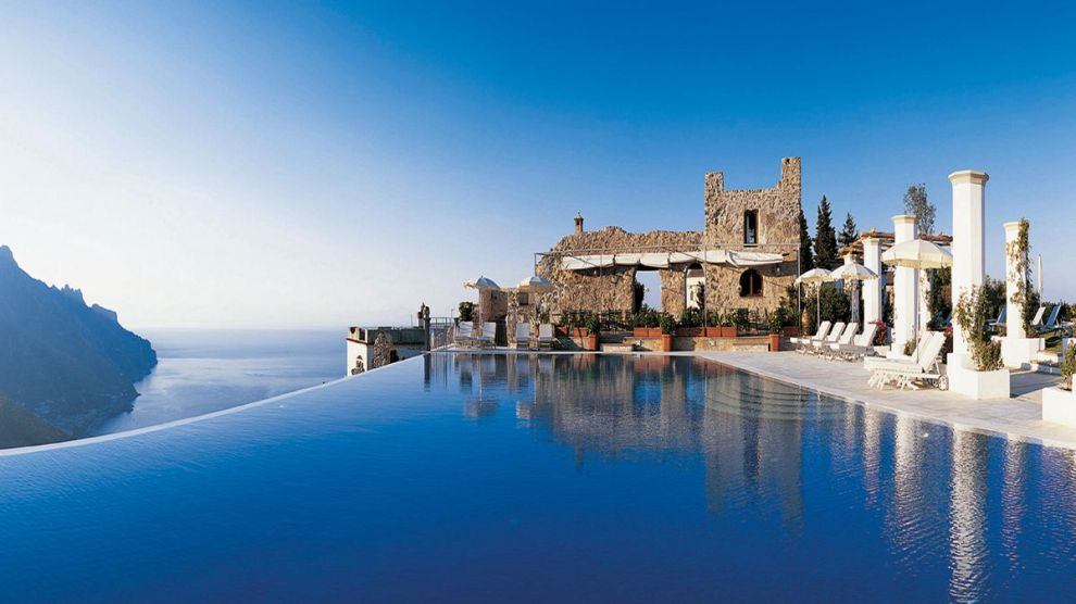 Pool over the Mediterranean